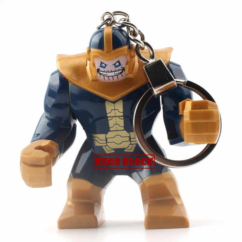 Venta única Marvel DC clásico superhéroe película llavero de figura Capitán América Batman spiderman bloques de construcción Hulk