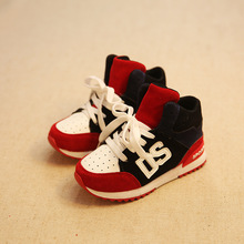 Size 26 36 Autumn Winter Children Breathable Nubuck Leather High top Lace Up Boys Sneakers Kids