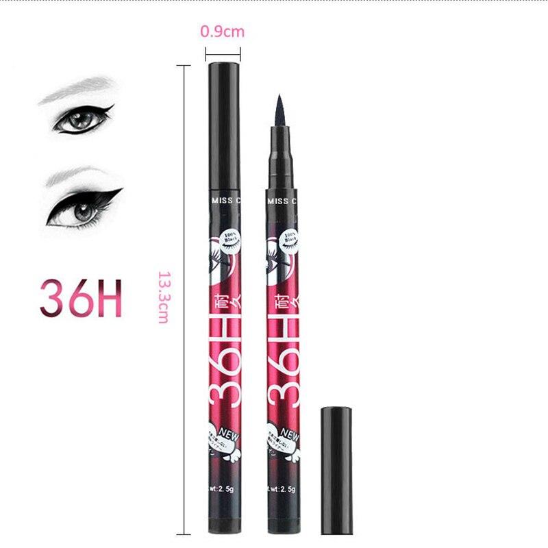 1Pcs Black Long Lasting Eye Liner Pencil Waterproof Eyeliner Liquid Long Lasting Cosmetic Beauty Makeup Liquid Eyeliner Pen in Eyeliner from Beauty Health