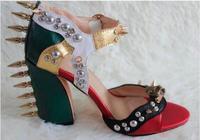 Лидер продаж 2016 года продвижение бренда Симпатичные Аллигатор Роскошные Дизайн Римские сандалии с открытым носком ботильоны Обёрточная бу