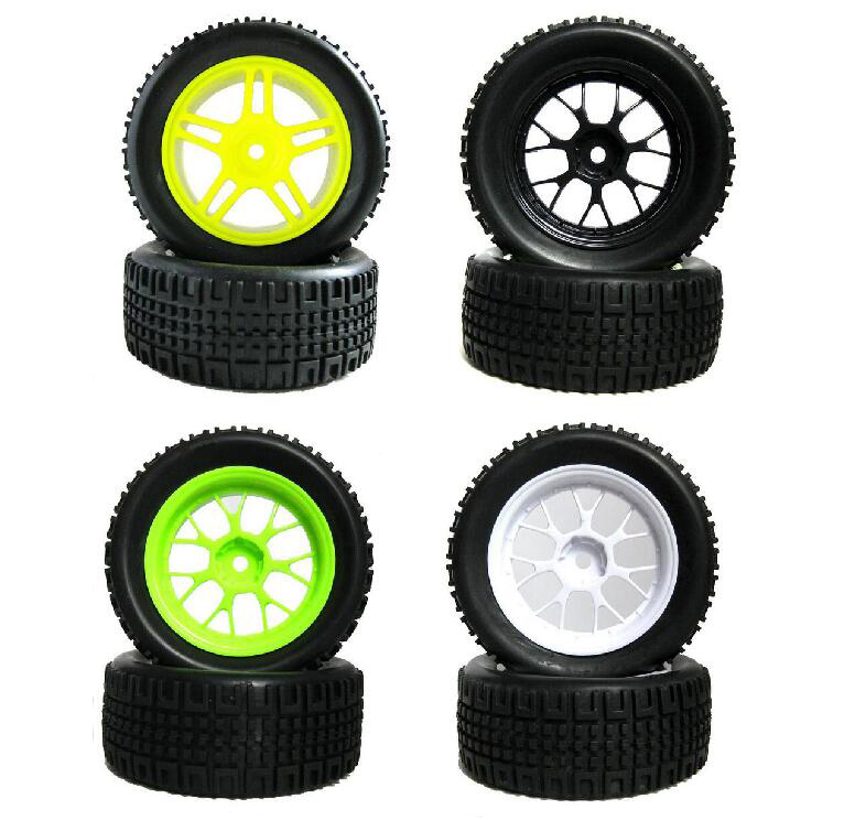 4pcs 1/16 Rally Tire Off-road tires Buggy Wheels 1/10 on road car pull rally Tyre fit for HSP 94123 RC Car  diameter 75mm 02023 clutch bell double gears 19t 24t for rc hsp 1 10th 4wd on road off road car truck silver