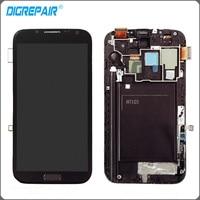 Grey For Samsung Galaxy Note II 2 N7105 I317 LCD Display Monitor Touch Screen Digitizer Bezel
