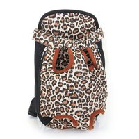 Wholesale 5* ( Type Changing Front Backpack Carrier Size XL Canvas for dog leopard