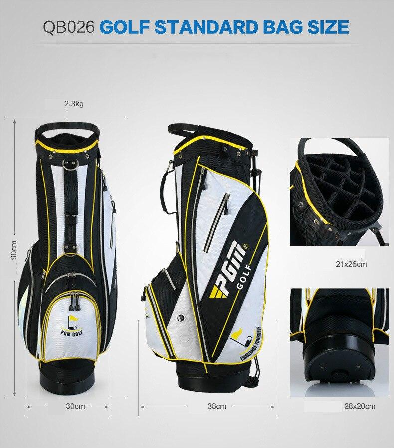 Les fabricants ont adapté le nouveau sac de support de golf de PGM les hommes et les femmes tiennent l'édition portative d'ultraportabilité - 2