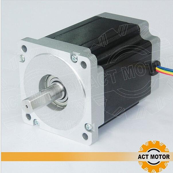 ACT Motor 1PC Nema34 Stepper Motor 34HS1456 Single Shaft 4-Lead 1232oz-in 118mm 5.6A Bipolar CE ISO ROHS Engraving Machine act motor 1pc nema34 stepper motor 34hs9820 890oz in 98mm 2a 8 lead single shaft ce iso rohs plasma engraver plastic medical