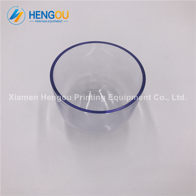 3 Pieces Heidelberg GTO spare parts OD 90mm Height 70mm Thickness 3mm Printing Clear Plastic Cup 2 pieces printing cup 0d 90mm 6 pieces rubber seals 90mm