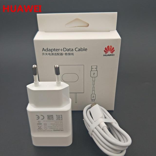 Ban đầu huawei 5 v 2a EU sạc + micro usb cable ngày cho nova 3i 2i honor 8x 7c 7x 7a 6a 5x p6 p7 p8 p9 p10 lite mate 7 8 S Y6