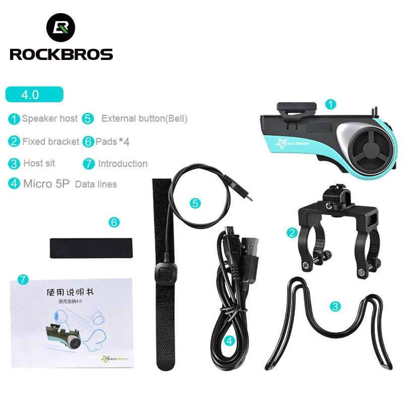 ROCKBROS Étanche Vélo 5 Dans 1 Multi Fonction haut-parleur bluetooth batterie mobile 4400 mAh batterie externe support pour téléphone Vélos Lumière - 6