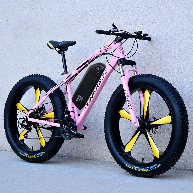26inch snow electric mountain bicycle 48V lithium battery 1000w motor fat ebike 4.0 tires  high speed brushless electric bike 2