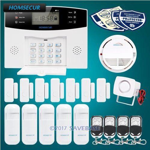все цены на HOMSECUR Wireless LCD GSM 850/900/1800/1900 Burglar Alarm System+Red Flash Siren онлайн