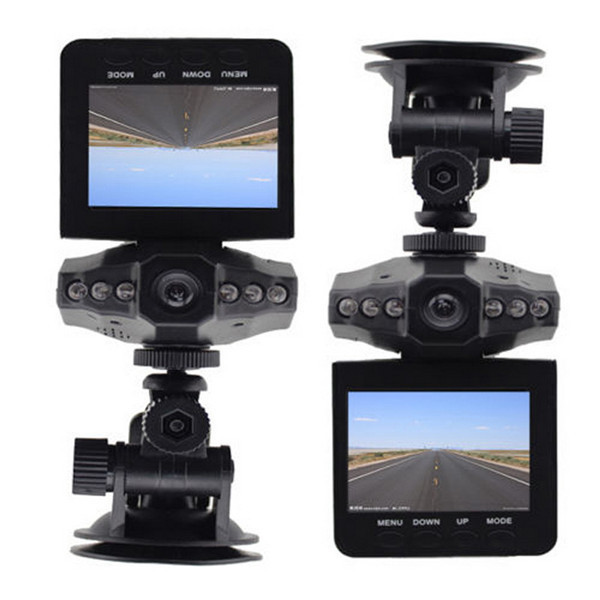 "6 LED 2.5"" Full HD 1080P LCD Car DVR Vehicle Camera Video Recorder Dash Cam Night Vision Recorder Free Shipping"
