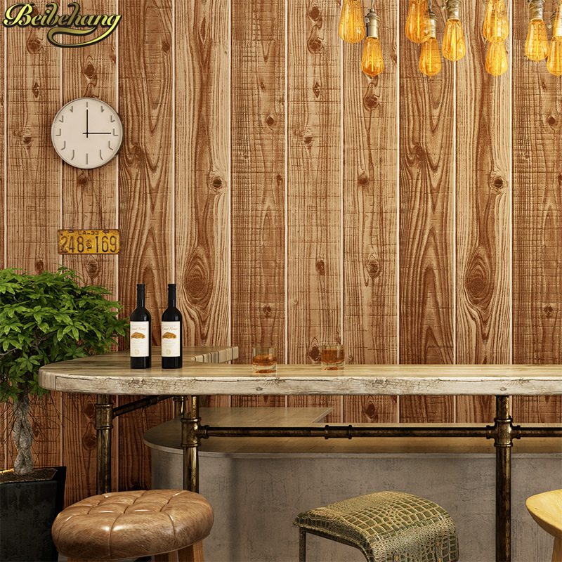beibehang Vintage wooden board flooring paper Wood grain Wallpaper For Walls Wall Paper Rolls Living Room wall papers home decorbeibehang Vintage wooden board flooring paper Wood grain Wallpaper For Walls Wall Paper Rolls Living Room wall papers home decor