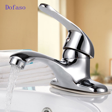 Dofaso bathroom Faucets Mixer cold and hot basin bath tap deck faucet