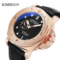 Explosion models men watch large dial leather waterproof sports luminous automatic mechanical watch