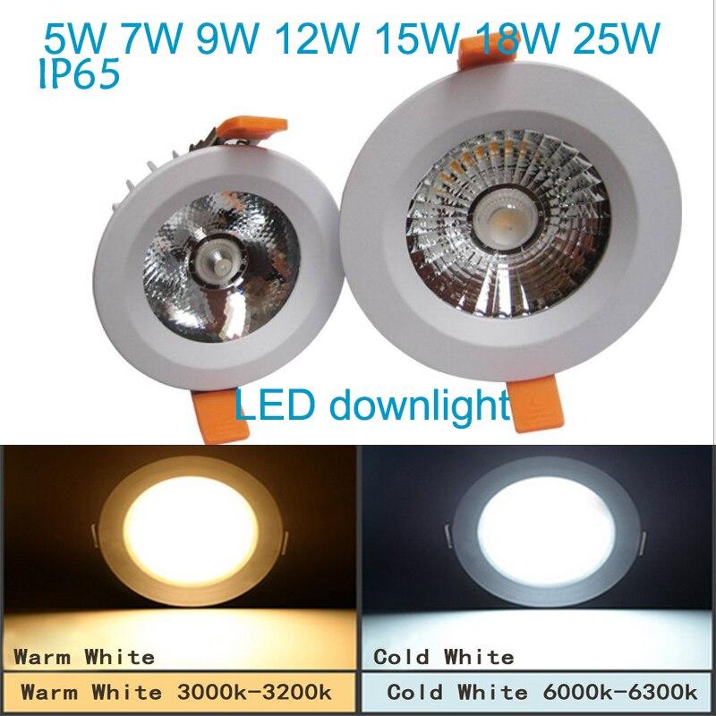 vezető nélküli Led Downlights 5W 7W 9W 12w 220V LED Mennyezeti - LED Világítás - Fénykép 2