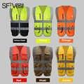 SFVest мужской флуоресцентный желтый оранжевый строительный hi vis жилет безопасности светоотражающий жилет с молнией логотип печать бесплатна...