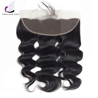 SHENLONG HAIR Malaysian Body Wave 13 4 Lace Frontal Non Remy 100g 100 Human Hair Extensions