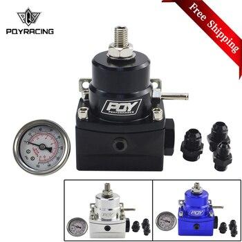 Free Shipping AN8 high pressure fuel regulator w/ boost - 8AN 8/8/6 EFI Fuel Pressure Regulator with gauge PQY7855