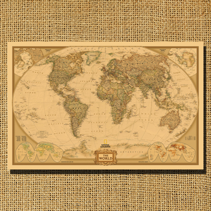 Nostalgic vintage cowhide paper decorative painting the big world nostalgic vintage cowhide paper decorative painting the big world map measurement european version old compass map poster in painting calligraphy from gumiabroncs Images