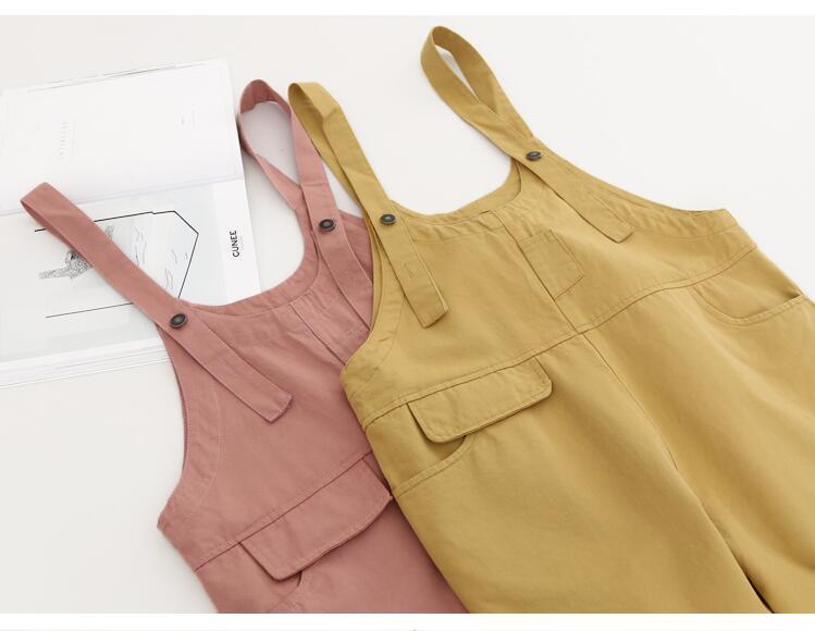 Горячий продавать женские модные случайные свободные розовый комбинезоны шорты брюки разорвал комбинезон высокая талия деним шаровары