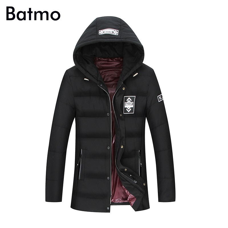 Batmo 2017 new arrival winter high quality 80% white duck down warm hooded jackets men,winter mens coat plus-size L-8XL 18022