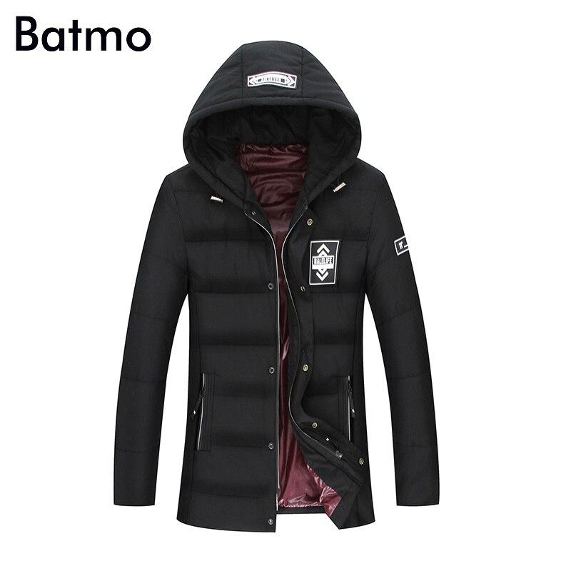 Batmo 2017 new arrival winter high quality 80% white duck   down   warm hooded jackets men,winter men's   coat   plus-size L-8XL 18022