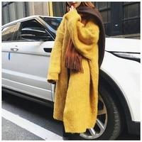 PB01/PB02/PB03/PB04/PB05/PB06/PB07/PB09 длинный свитер женские свитера кардиганы больших размеров Женское шерстяное пальто