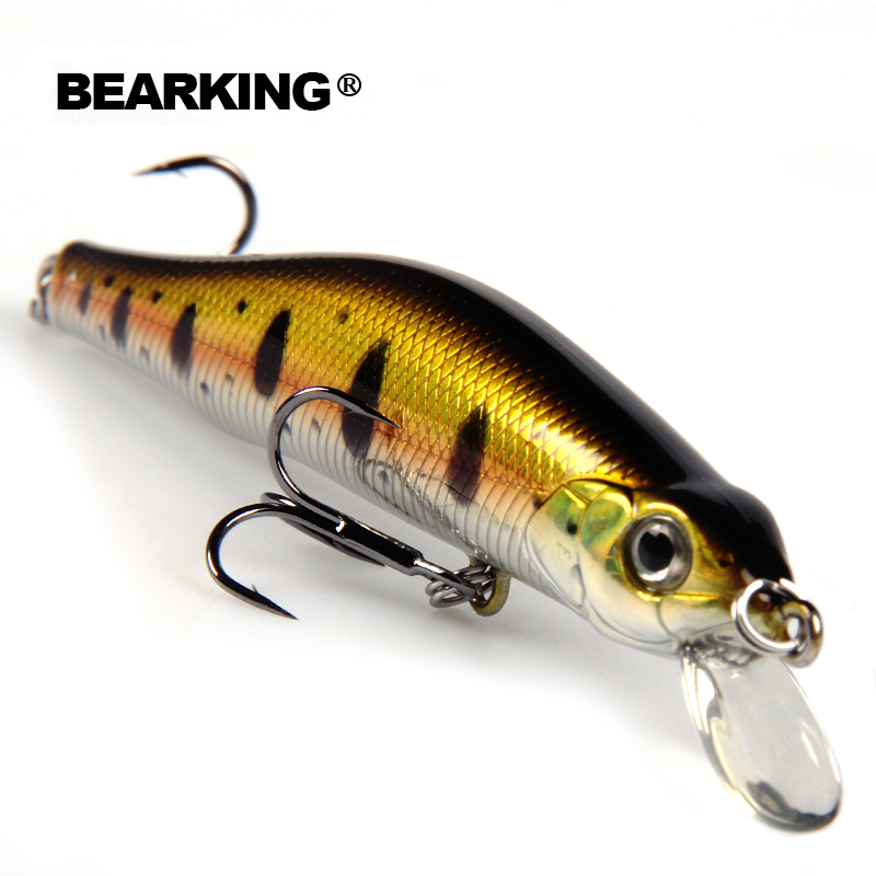 Hot model BearKing Retail new A + fishing lures, magent inside, assorted different colors, Minnow, 80mm/8.5g Crankbait popper