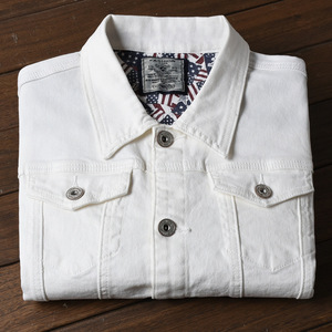 Image 5 - Fashion Mens Denim Jackets Slim Fit Spring Autumn Jeans Jacket Pink Red Turn Down Collar Outwear Size M 3XL