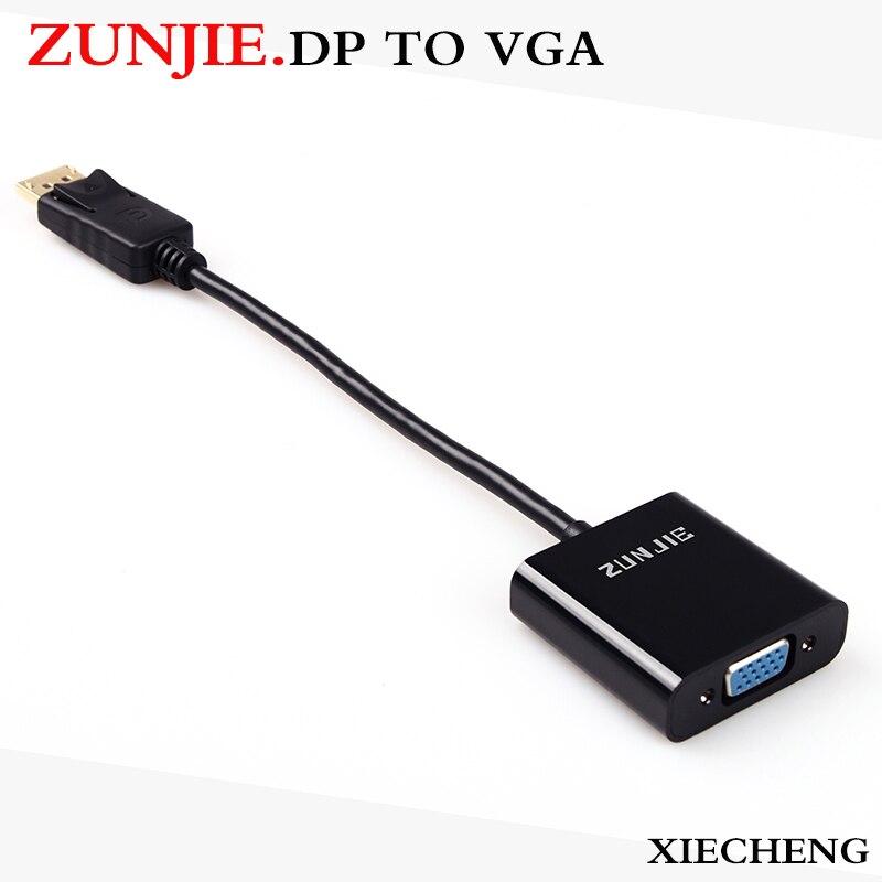 Zunjie Display Port DP Mâle vers VGA Femelle Câble Convertisseur Adaptateur pour Projecteur DTV TV HDVD Lecteur 1080 P DP À VGA convertr