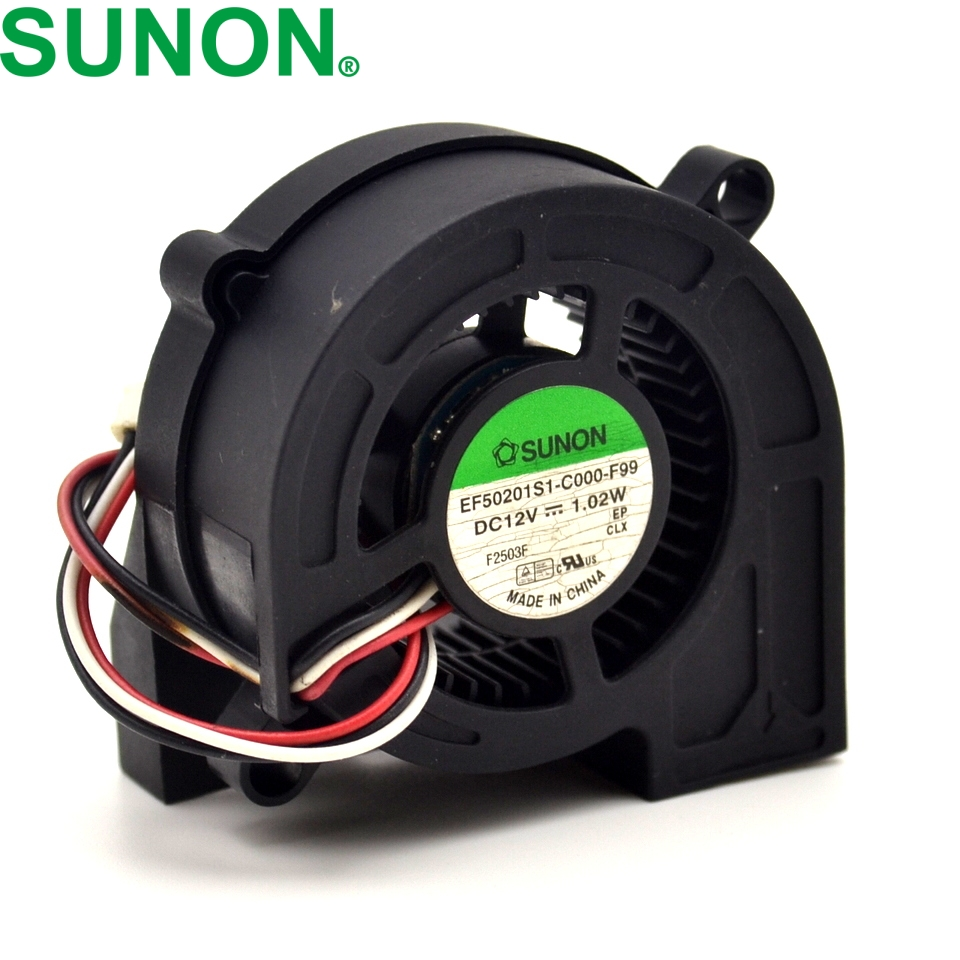 SUNON Cooling Fan   EF50201S1-C000-F99 5020 DC12V 1.02W 3Wire Projector delta 12038 12v cooling fan afb1212ehe afb1212he afb1212hhe afb1212le afb1212she afb1212vhe afb1212me