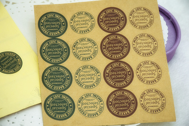 480X Retro DIY Kraft Handmade Soap Labels Sticker Sealing Paste