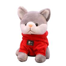 20CM Cute Cartoon Sweatshirt Cat Shape Plush Doll Toy Car Decoration