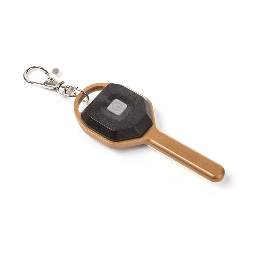 Small Size ABS LED Flashlight Light Mini Key Shape Key Chain Ring Keychain Lamp Torch Emergency Camping Light