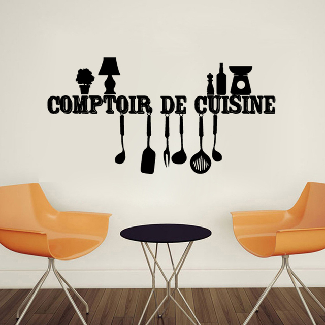 Stickers De Cuisine kucada comptoir de cuisine wall sticker for home decoration kitchen