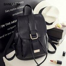 Красивые повседневные женские рюкзак женский из искусственной кожи женские рюкзаки черный Bagpack Сумки для девочек-подростков молодой леди туристические рюкзаки