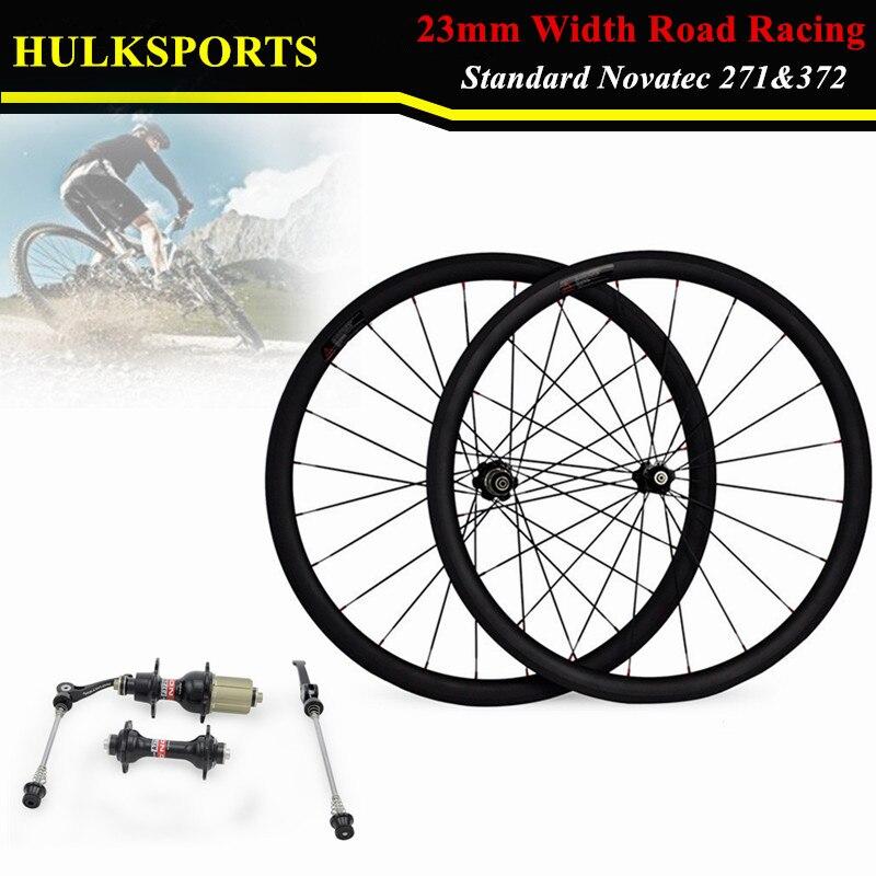 700c bike carbon wheelset 38mm factory OEM carbon clincher wheels for road bicycle novatec hubs HK-WH-38C-W23-C black spokes 20h 24h road bike 700c carbon alloy wheels 38mm clincher with black novatec hubs a291 f482sb
