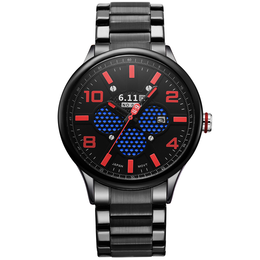 TIMI 2018 Men Fashion Solar-powered watch Full Steel Clock Army Military Outdoor Quartz Wrist Watch Casual Sports watches NO.008