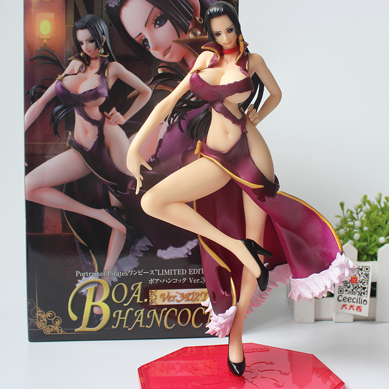 Anime One Piece Boa Hancock Figure Sexy Limited Edition Collection Model Toys 23CM sexy boa hancock pvc action figure one piece anime model toy gift decoration figurines for collections free shipping 10 25cm