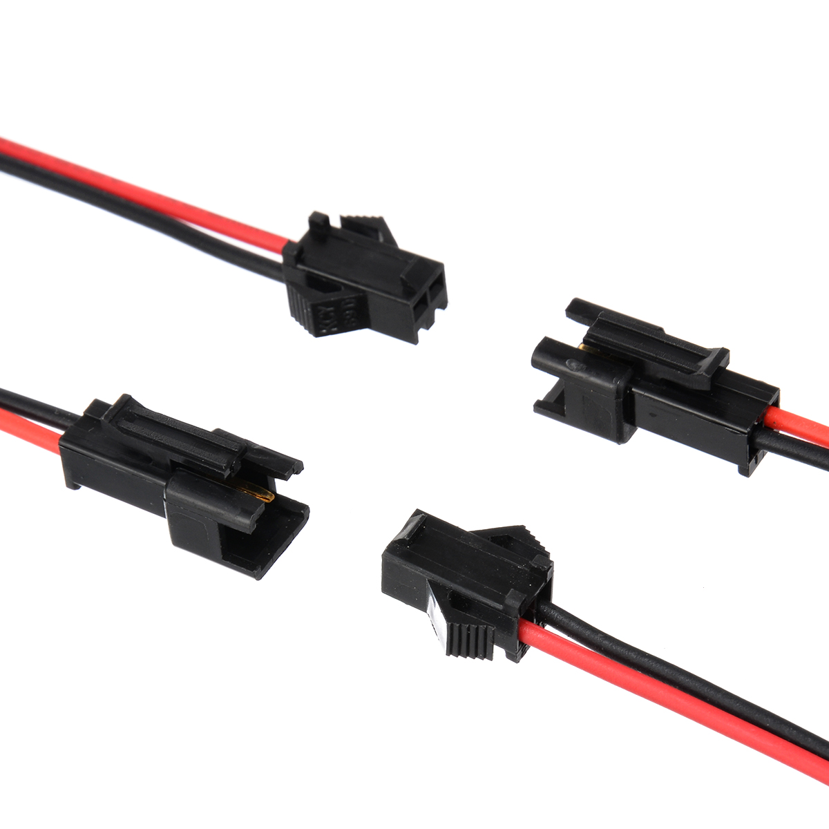 5 Pairs 2 Pin SM Plug Connector Cable Wire Male Female 5 Of Each Connector Mayitr Electrical Wires 100mm Length Mayitr in Connectors from Lights Lighting