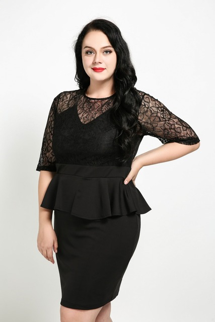 Aliexpress Buy Womens Sexy Half Sleeve Plus Size Lace Party