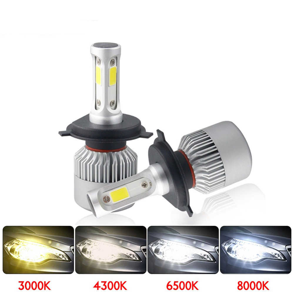 Erenigh 2pcs LED Headlight Bulbs S2 H4 H7 H1 H11 H13 12V 9005 9006 H3 9004 9007 9012 72W 8000LM Light All In Auto Lighting
