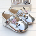 2016 Fashion style cute baby girl PU Leather cartoon small rabbit pattern baby favourite princess shoes