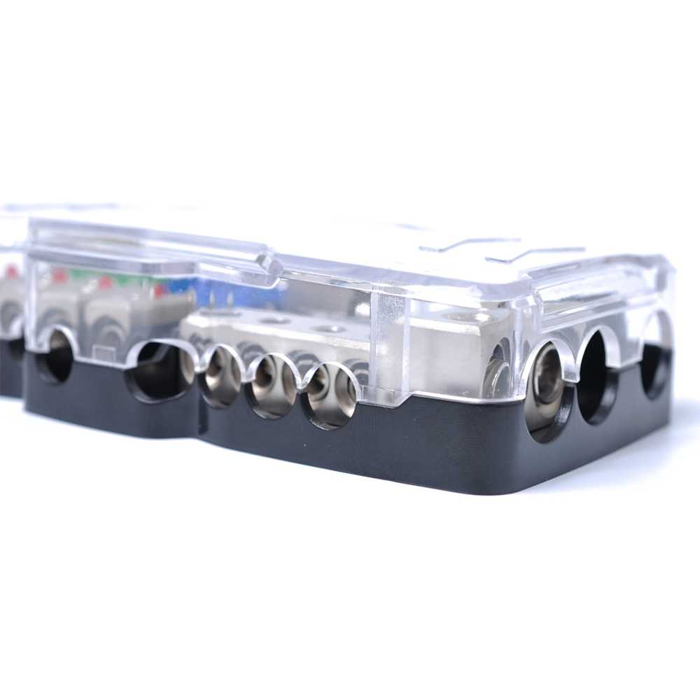 car audio stereo distribution fuse block with ground mini anl fuse box  4 way led indicator