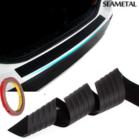 Car Styling Black Rubber Rear Guard Bumper Protector Trim Cover For KIA Toyota VW BMW Chevrolet