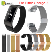 For Fitbit charge 3 Watch band  Milanese loop Stainless Steel Bracelet Replacement Accessory  Wristbands For Fitbit Charge 3 New seven color frame housing milanese loop stainless steel accessory band bracelet for fitbit blaze smart fitness watch case