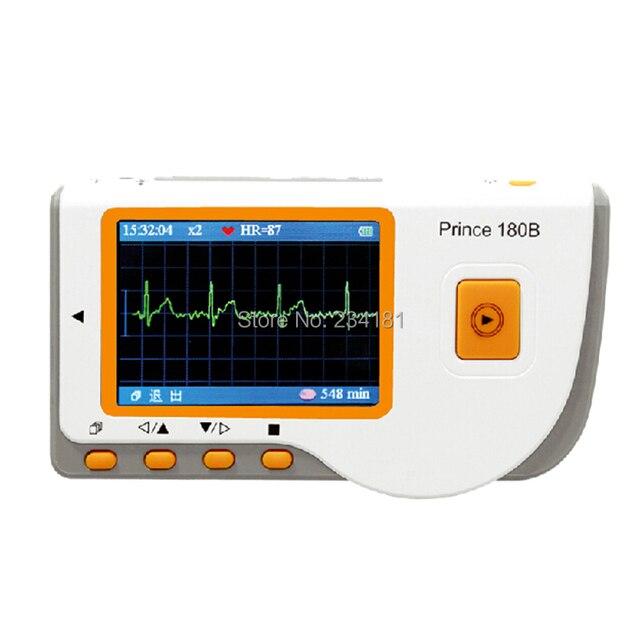 180B Handheld Easy ECG EKG Portable Heart Monitor Software,Handheld monitor oximeter probe ox Electrocardiogram Electro