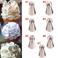 Stainless Steel Icing Piping Nozzles Pastry Decorating Tips Cake Tools Cupcake Decorator Rose Kitchen