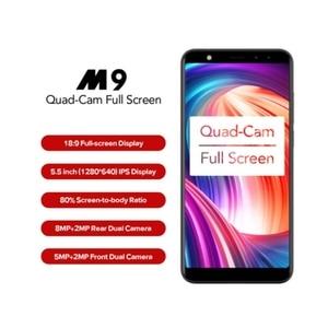 "Image 2 - Leagoo M9 5.5"" 18:9 Full Screen Four Cams Android 7.0 MT6580A Quad Core 2GB RAM 16GB ROM 8.0MP Fingerprint 3G WCDMA Mobile Phone"