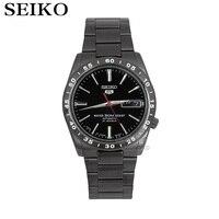SEIKO Shield No 5 Automatic Mechanical Men S Watch Gold Strap White Strap SNKE04K1